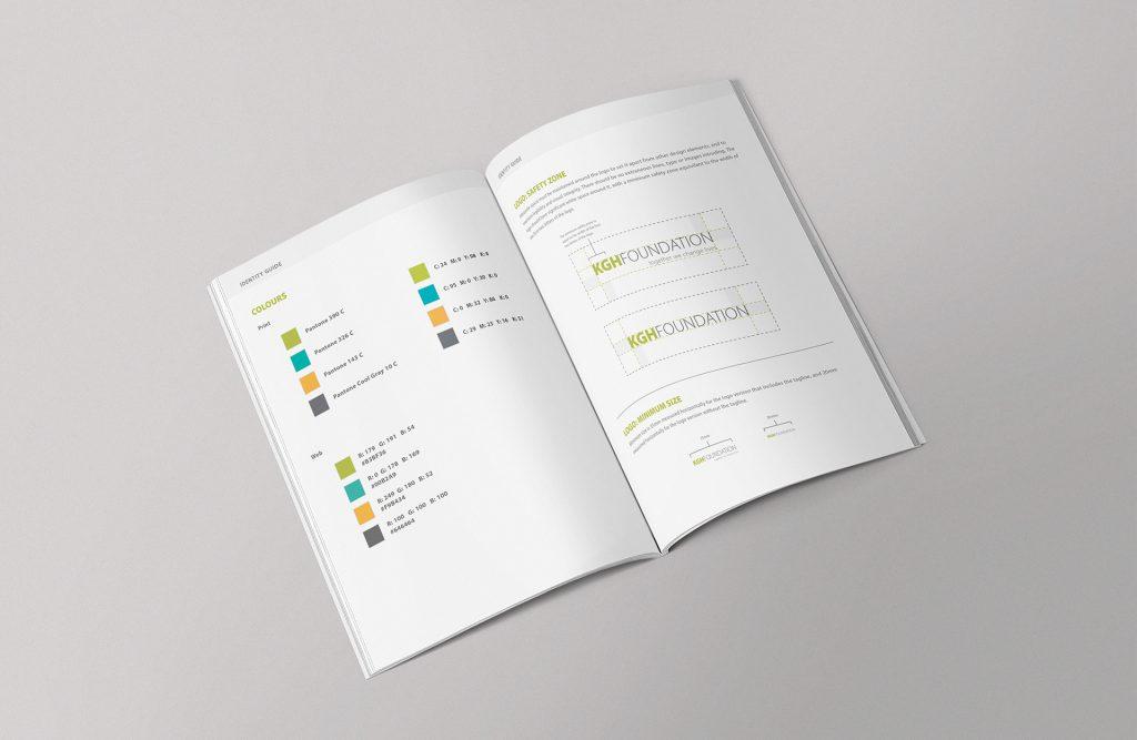 Jamie Langevin Portfolio Brand Identity Design KGH Foundation Guidelines