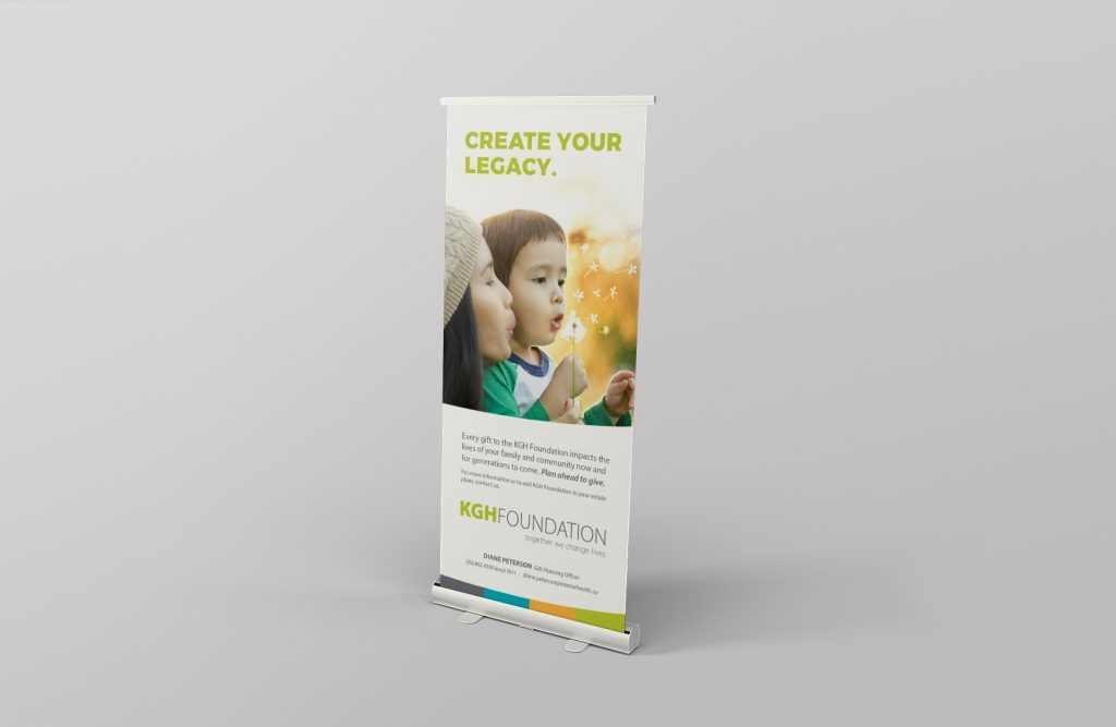 Jamie Langevin Portfolio Print Design KGH Foundation Rollup Banner