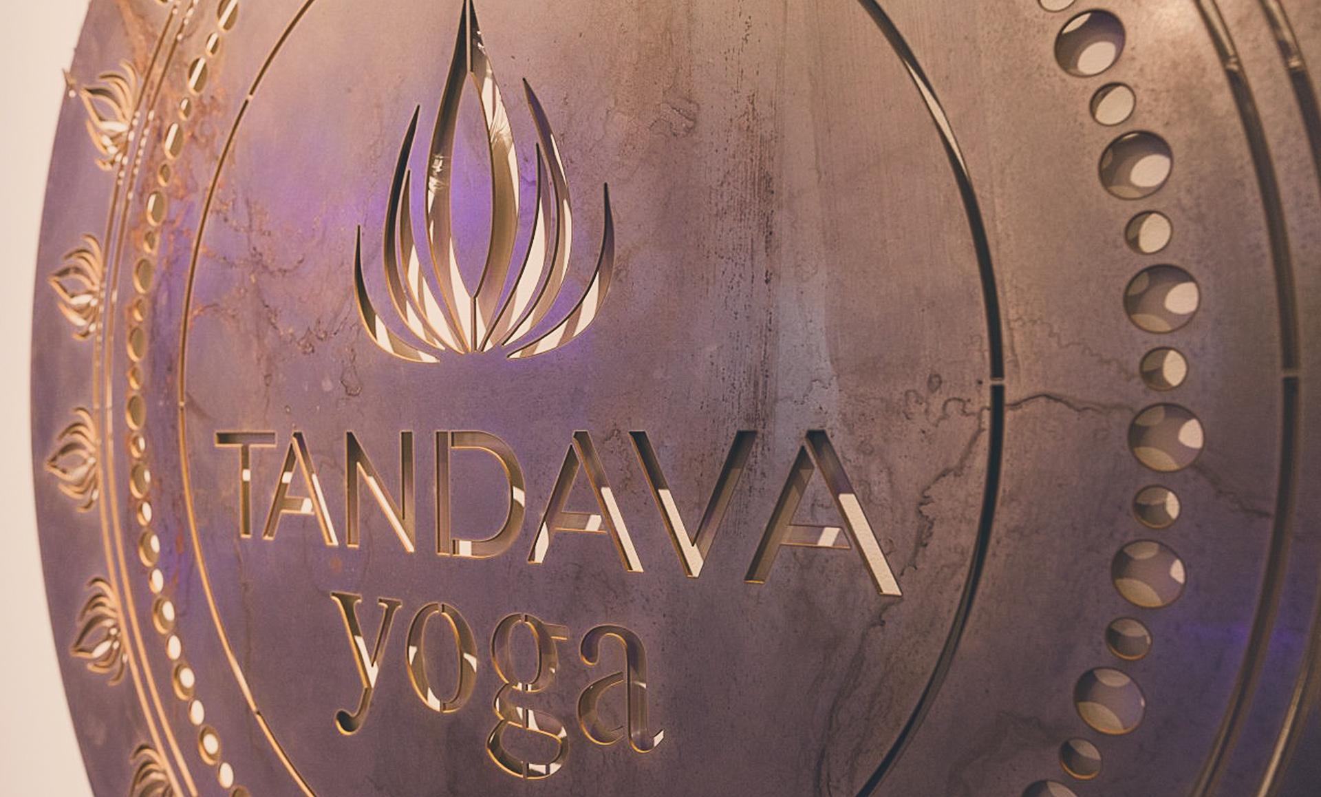 jamie langevin branding design tandava yoga logo designer vancouver copper wall art