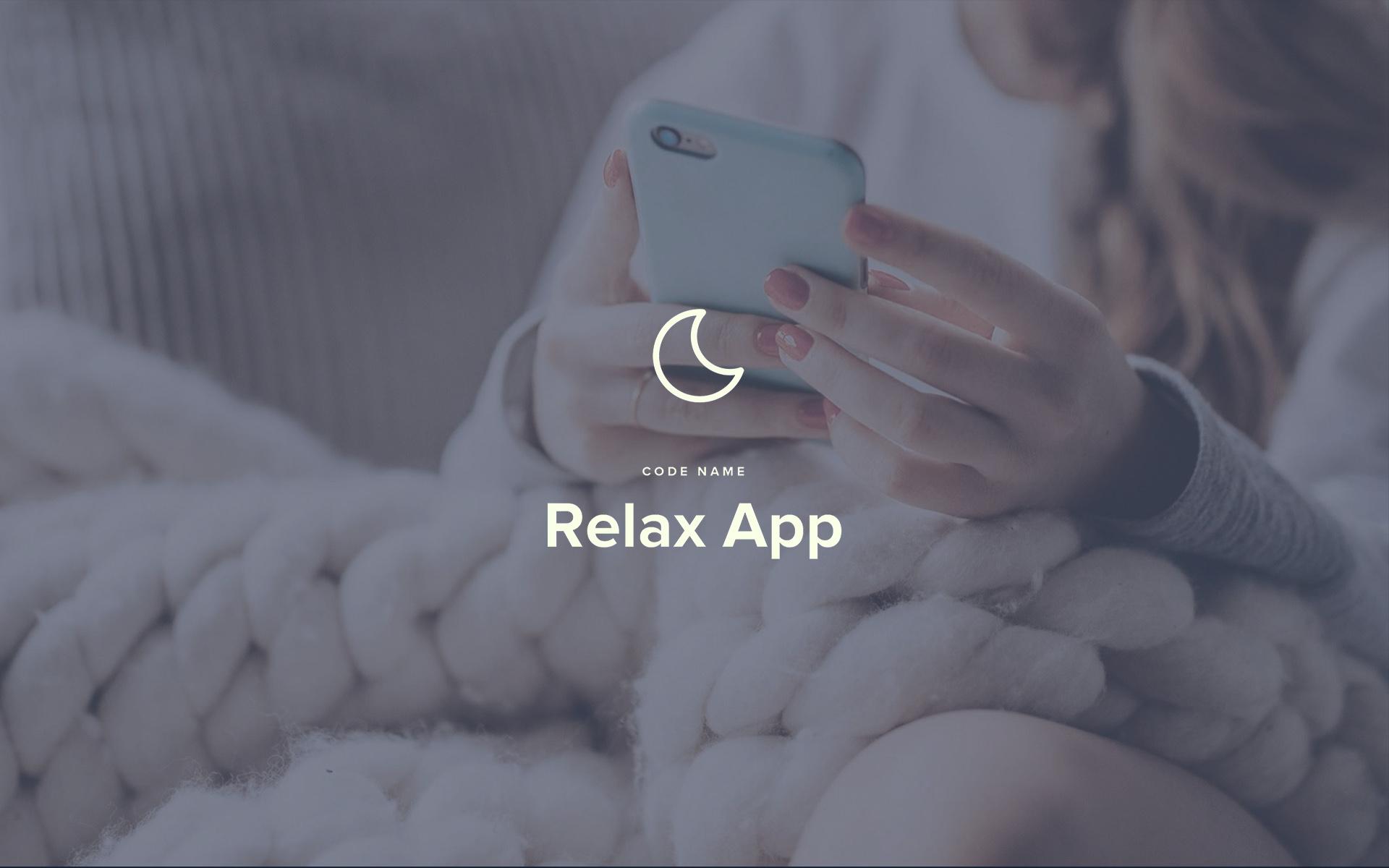Jamie Langevin Portfolio App Product Design UX UI RelaxApp BG